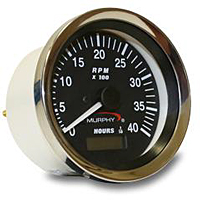 ATHA-40 Alternator Signal Analog Tachometer/Hourmeter