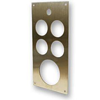 Stainless Five Hole Gage Panel